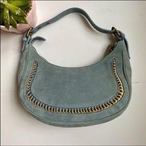 Celine vintage leather and suede mini bag